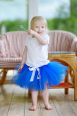 Little girl dressed as fairy — Foto Stock