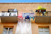 Clothes on line — Stock Photo