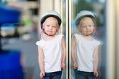 Little  girl in bike helmet — Stock Photo