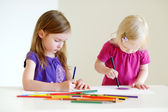 Sisters drawing — Stock Photo