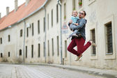 Father   with  little girl — Foto Stock