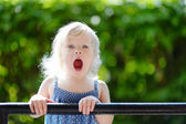 Girl making funny faces — Stock Photo