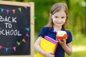 Little schoolgirl — Стоковое фото