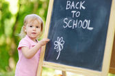 Little girl going to preschool — Foto de Stock