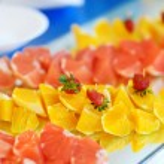 Sliced fresh fruits — Stock Photo #50392365