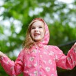 Adorable girl under rain — Stock Photo #51578985