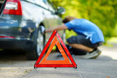 Warning triangle sign — Stock Photo