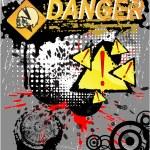 symbole danger de crâne — Vecteur #5324257