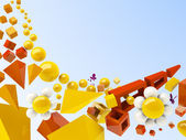 Fundo geométrico de verão — Foto Stock