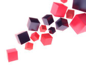 Color geometrical shapes on white — Stock Photo