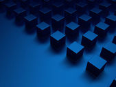 Blue metallic background with cubes — Stock Photo