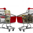 Shopping Cart with money — Stock Photo #32073745