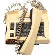 Stock Photo: Telephone collection - crashed phone on white background