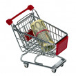 Shopping Cart with money — Stock Photo #35219263