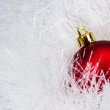 Stock Photo: Red christmas ball