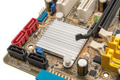 Electronic collection - digital components on computer mainboard — Stockfoto