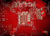 Electronic collection - Electronic components on the PCB — Stock Photo