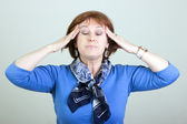 Vrouw met een hoofdpijn — Stok fotoğraf