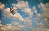 Balloon flying in the sky — Stock fotografie