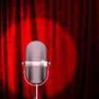 Microphone on a stage — Stock Photo