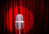 Microfono su un palco — Foto Stock