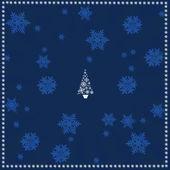 Blauwe achtergrond van kerstmis — Stockfoto