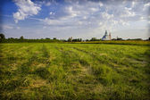 Landscape with the Russian church — Stock fotografie