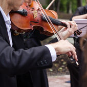 Classical music concert outdoors. — Stock Photo
