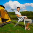 Man at the campsite — Stock Photo #12565133