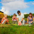 Stock Photo: Family picnic