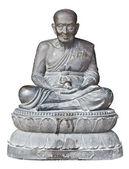 Statue of buddhist monk — Stock Photo