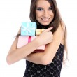 Model with gifts — Stock Photo #1308147