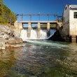 Chemal hydroelectric power plant — Stock Photo #13107889