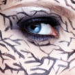 Closeup of eyezone bodyart — Stock Photo