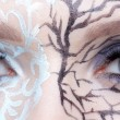 Closeup of eyezone bodyart — Stock Photo #13862894