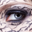 Closeup of eyezone bodyart — Stock Photo #13862900