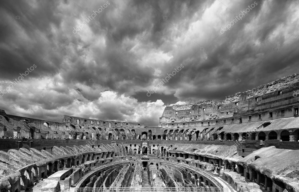 Colosseum the most well-known and remarkable landmark of Rome and Italy  Stock Photo #13879170
