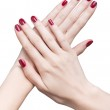 Hands with red manicure — Stock Photo #19061737