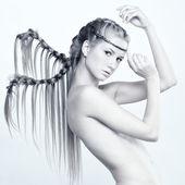 Mulher com tranças — Foto Stock