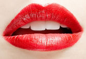 Lippen zone make-up — Stockfoto