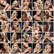 Collage of female beauty — Stock Photo