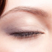 Closed eye make up — Stock Photo