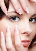Beautiful woman with manicure — Stock Photo