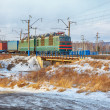Locomotive on Trans-Siberian Railway - Stock Photo