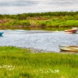 Boats  on the river  — Stok fotoğraf