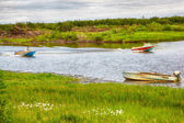 Boats on the river — Stock Photo