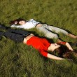Girls on the grass — Stock Photo #2721003