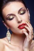 Maquiagem de rosto brilhante — Foto Stock