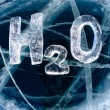 Chemical formula of water H2O — Stock Photo