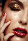 Stralend gezicht make-up — Stockfoto
